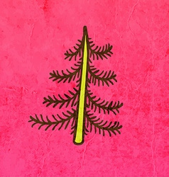Pine Tree Cartoon vector image