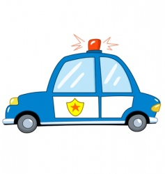 police car cartoon vector image vector image