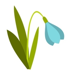 Snowdrop icon flat style vector