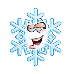 Snowflake emoticon hey vector