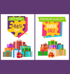 Super sale for premium quality goods promotion vector