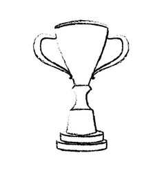 Trophy winner competition award icon vector