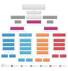 Vertical organizational corporate flow chart vector