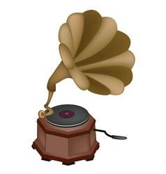 Vintage Gramophone Background vector image