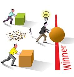 winner brain works vector image vector image