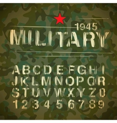 Military Vintage Alphabet vector image