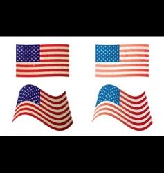 usa flag grunge variation vector image