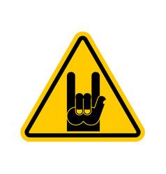 Attention rock music warning rock hand symbol vector