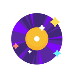 Purple vinyl record vector