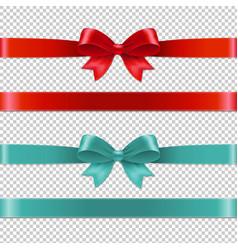 Color bows collection vector