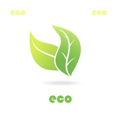 Eco icon leaves vector