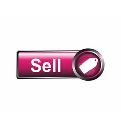 Sell icon label vector