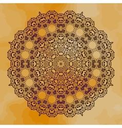 Grungy henna mandala vector image