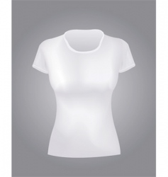 White women shirt vector