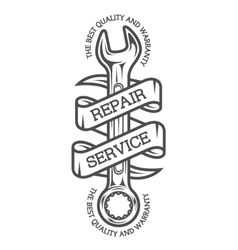 The emblem on the theme of repair vector image