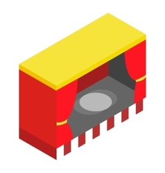 Red stage isometric 3d icon vector