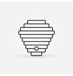 Beehive linear icon vector