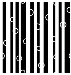 Line and circle chaotic seamless pattern 7307 vector image