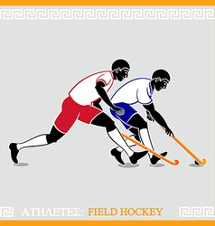 Athletes Field hockey players vector image vector image