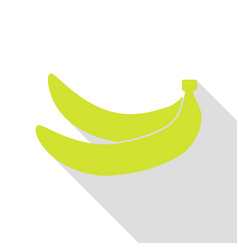 Banana simple sign pear icon with flat style vector