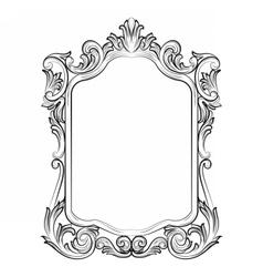 Baroque Rococo Mirror frame vector image vector image