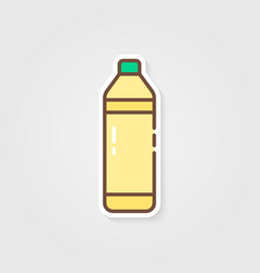 bottle with lemonade and shadow vector image