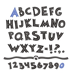 Cartoon retro font vector