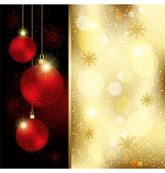 Christmas Crystal Ball Greeting Card vector image vector image