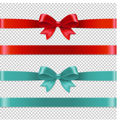 Color bows collection vector