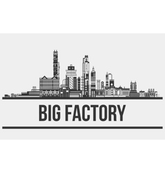 Contour of plant or factory manufactory or works vector