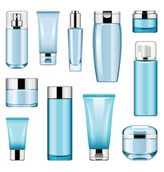 cosmetic packaging icons set 6 vector image vector image