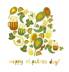 Cute colorful StPatricks day background vector image vector image