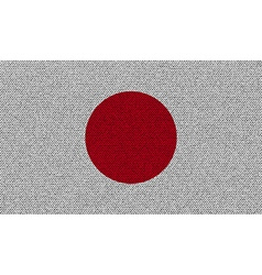 Flags Japan on denim texture vector image