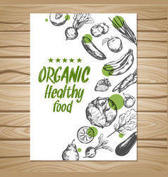 Hand drawn healthy food poster vector