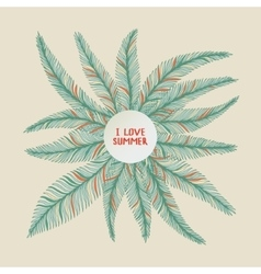Hand drawn palm leaves vector image vector image