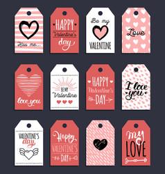 Handwritten phrases love is in the year etc vector
