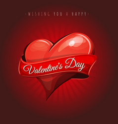Happy valentines day love card vector
