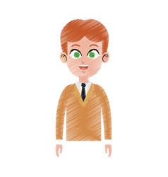 Happy young businessman icon image vector