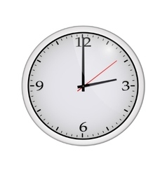 Icon of white clock with shadow vector image