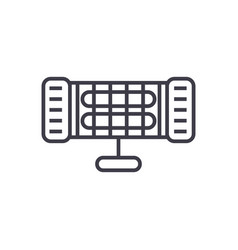 infrared heater line icon sign vector image