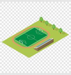 Isometric football field vector