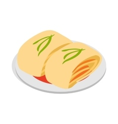 Kimchi korean food icon isometric 3d style vector