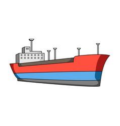 oil shipoil single icon in cartoon style vector image