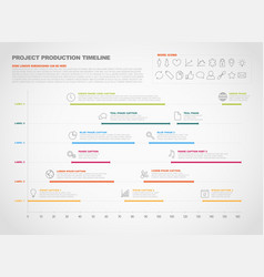 Project production timeline graph vector