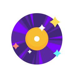 Purple vinyl record vector