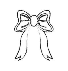 ribbon bow icon image vector image vector image