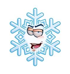 Snowflake emoticon im romeo vector