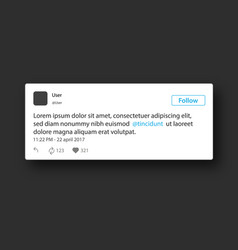 social network post frame vector image vector image