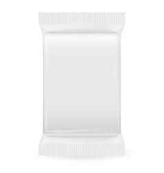 White blank foil packaging plastic pack ready vector