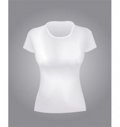 white women shirt vector image vector image